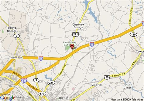 Map Of Hampton Inn Spartanburg North I 85 Sc Spartanburg