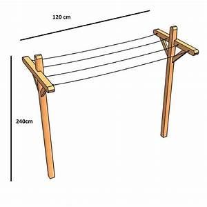 Etendoir A Linge Exterieur : fabriquer un etendoir a linge exterieur en bois ~ Dailycaller-alerts.com Idées de Décoration