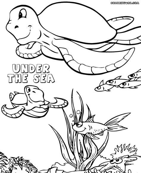 sea coloring pages coloring pages