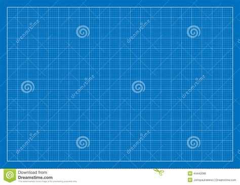 Blank Blueprint, Grid, Architecture Stock Vector
