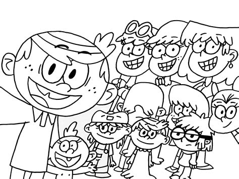 Image result for the loud house coloring pages   loud hse