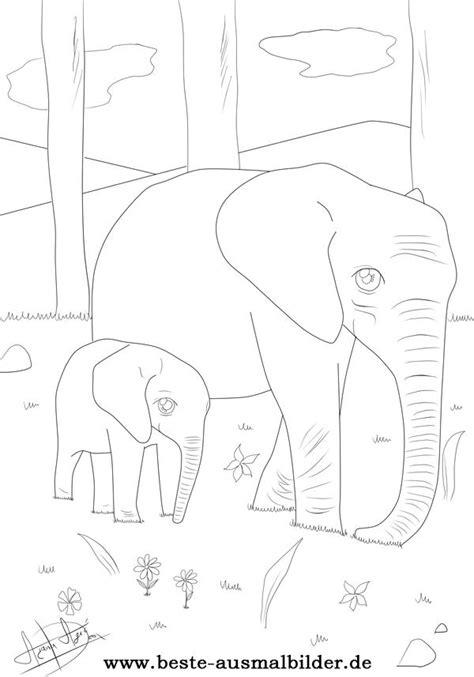 elefent malvorlagen kostenlose elefant ausmalbilder zum
