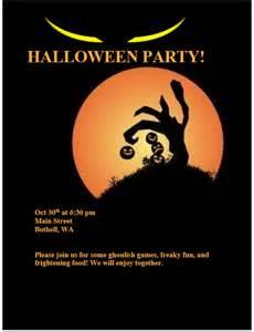 Halloween Party Invitation Flyer Templates