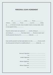 40 free loan agreement templates word pdf template lab With loan money agreement letter