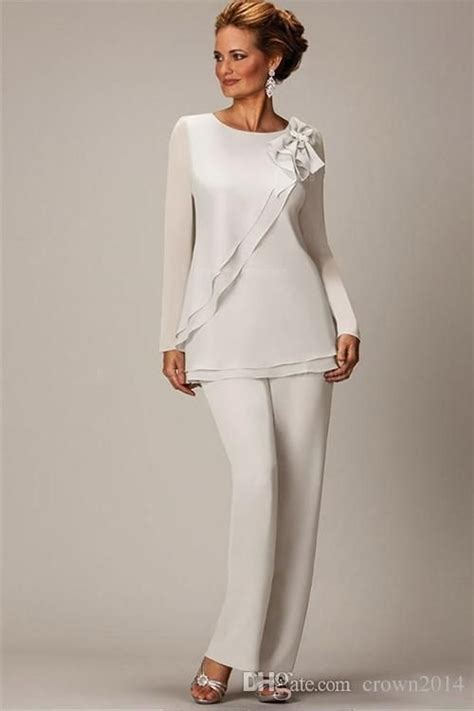 ivory mother   bride pant suits  size long sleeve