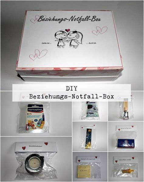 jahrestag geschenk für mann diy beziehungsnotfallbox do it your self diy gifts