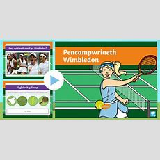 * New * Pŵerbwynt Gwybodaeth Pencampwriaeth Wimbledon Cs