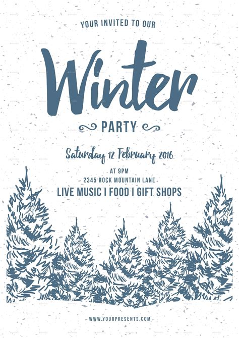 winter party flyer  lilynthesweetpea graphicriver