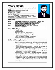 sample curriculum vitae for teachers free samples With curriculum vitae example