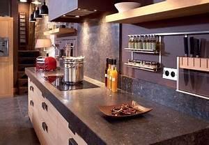 Support Ustensile Cuisine : glissi re en acier inoxydable avec tag res en bois et ~ Teatrodelosmanantiales.com Idées de Décoration