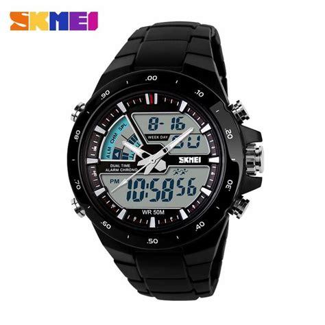 jual skmei jam tangan digital analog pria ad1016 di