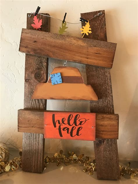 Fall ladder kit Door crafts Holiday wood sign Fall crafts