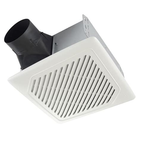 lowes broan bathroom fan shop broan 1 sone 110 cfm white bathroom fan energy star
