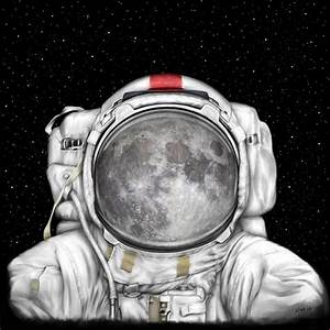 Astronaut Moon by Tharsis Artworks