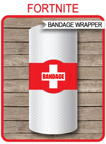 fortnite bandage paper towel printable template fortnite