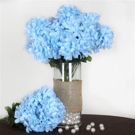 4 Bushes 56 Large Chrysanthemum Mums Balls Silk Wedding
