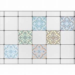 Carreaux De Ciment Autocollant : stickers autocollants carreaux de ciment color s pour ~ Premium-room.com Idées de Décoration
