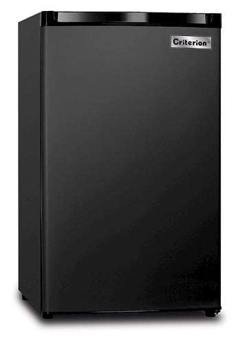 criterion  cu ft black compact freezer