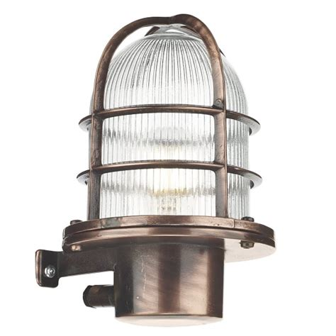 nautical industrial style garden wall light solid brass