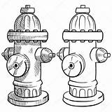 Hydrant Fire Sketch Drawing Illustration Vector Hydrants Plan Lhfgraphics Symbols Template Coloring Getdrawings Pages Depositphotos sketch template