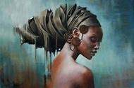 African Women Queen Art