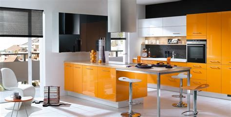 Cuisine Orange Et Noir Cuisine Orange Et Noir Pas Cher Sur Cuisine