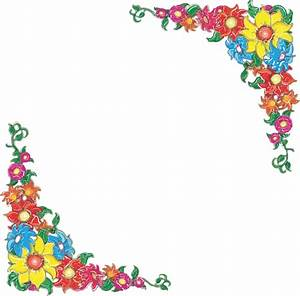 Flower border clip art at clkercom vector clip art online royalty free public domain for Flower border free
