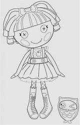 Coloring Pages Lalaloopsy Fun Doll sketch template