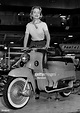 Film star Josephine Griffin posing on the new B.S.A Beeze ...