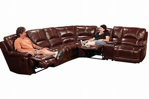 kimberly 7 piece leather reclining sectional at gardner white With 7 piece sectional sofa leather