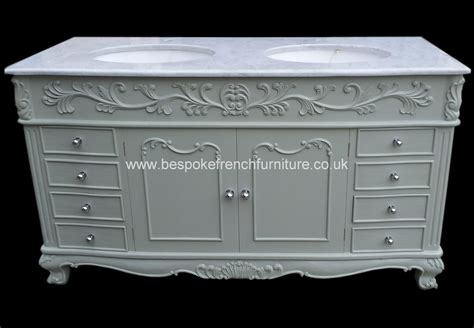 Bespoke Double Bowl Sink Vanity Unit With Solid Marble Top