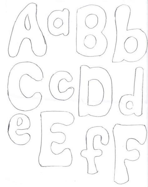patrones de letras en fieltro imagui