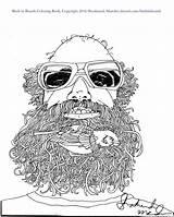 Coloring Bird Beards Birds Beard Purchasing Thank sketch template