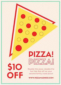 Restaurant flyer templates canva for Pizza sale flyer template