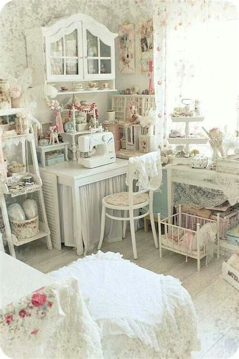 shabby chic sewing room shabby chic craft room for the home pinterest crafts shabby chic and craft rooms