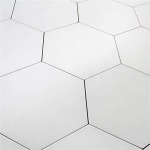 Carrelage Hexagonal Blanc : carrelage hexagonal blanc basique sol et mur parquet ~ Premium-room.com Idées de Décoration