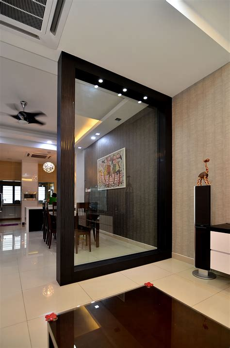 Trennwand Glas Wohnzimmer by Wooden Partition With Glass To Separate Dining Place From