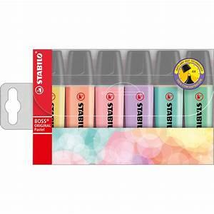 Was Sind Pastellfarben : stabilo boss original pastel pochette de 6 surligneurs ~ Lizthompson.info Haus und Dekorationen