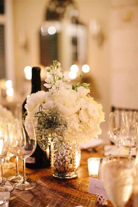 white flowers  mercury glass vase elizabeth anne