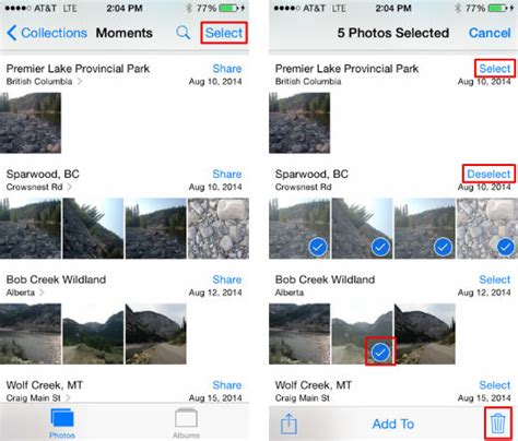 how do i delete photos from my iphone how can i quickly delete photos from my iphone s
