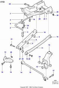 Cross Member  Rear Suspension Arms Ford Mondeo 1996