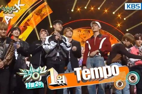 exo tempo win watch exo takes 1st win for tempo on music bank