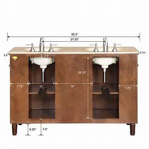 55quot Silkroad Cambridge Double Sink Cabinet Bathroom