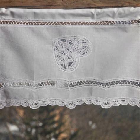 rideau brise bise coton blanc lac 233 1 coeur et dentelle les sculpteurs du lac