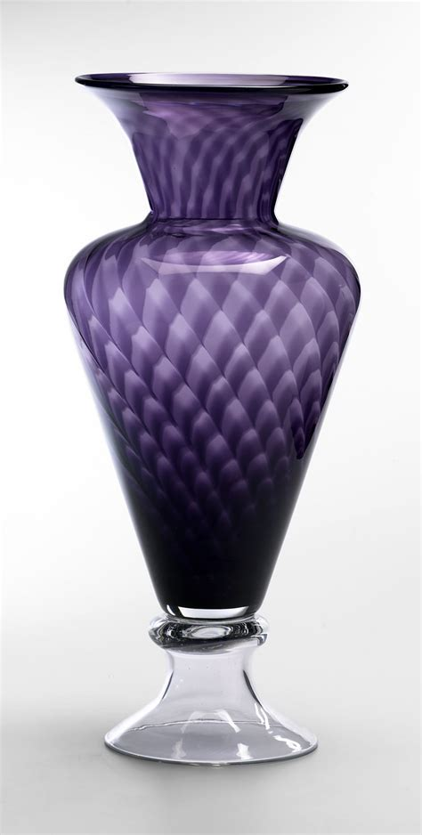 Purple Glass Vase by Clementine Purple Glass Vase By Cyan Design