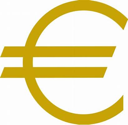 Euro Currency Sign Clipart Gold Clip Clker