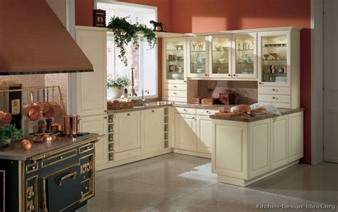 red kitchen walls with white cabinets pictures of kitchens traditional off white antique
