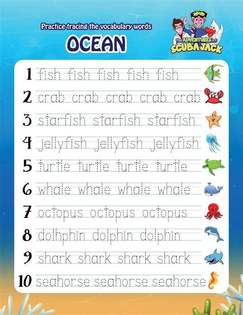printable worksheets adventures  scuba jack