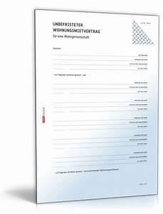 Kündigungsfrist Ohne Mietvertrag : mietvertrag wohngemeinschaft wg mietvertrag zum download ~ Lizthompson.info Haus und Dekorationen