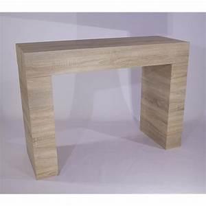 Table Chene Clair : table console evolution chene clair achat vente console meuble pas cher couleur et ~ Teatrodelosmanantiales.com Idées de Décoration